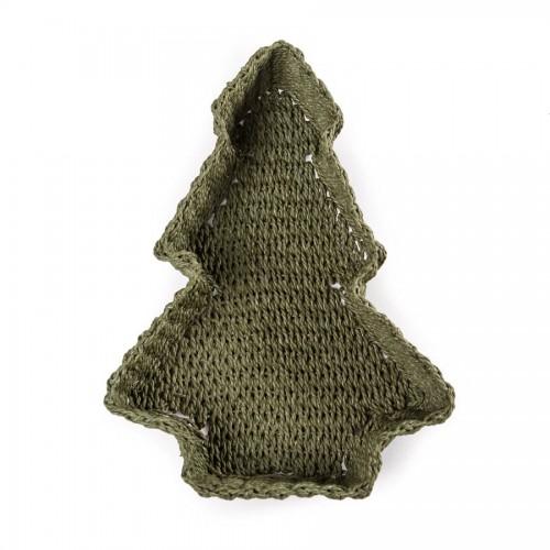 Декоративная коробка из джута Xmas tree small