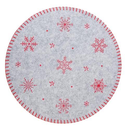 Салфетка декоративная Red Snowflakes M