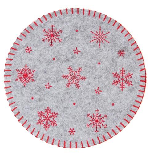Салфетка декоративная Red Snowflakes S